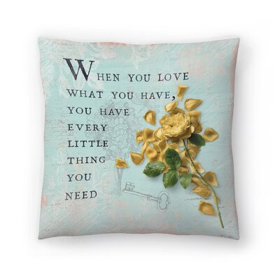 Love Rose Throw Pillow Size: 16 x 16