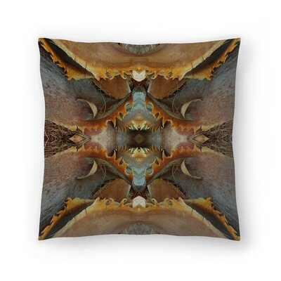 Palm Bark 7 Throw Pillow Size: 16 x 16