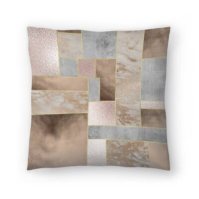 Shiny Marble Throw Pillow Size: 20 x 20