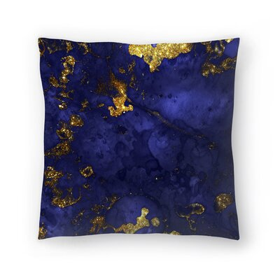 Luxury Malachite Gem Agate and Marble Texture Throw Pillow Size: 14 x 14