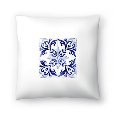 Azulejo II Throw Pillow Size: 18 x 18