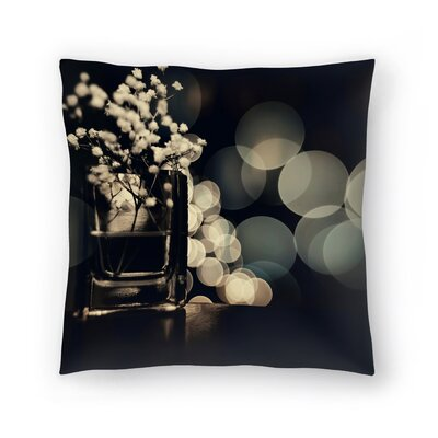 Babys Breath Throw Pillow Size: 16 x 16