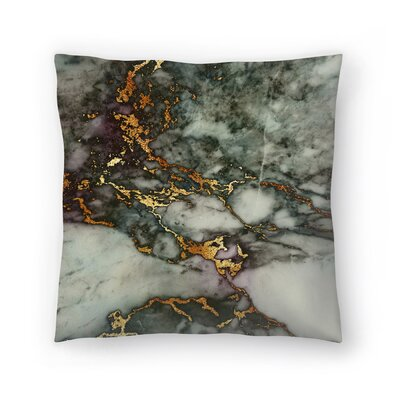 Luxury and Glitter Gem Agate and Marble Texture Throw Pillow Size: 20 x 20