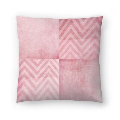 Dusty Chevron Throw Pillow Size: 18 x 18