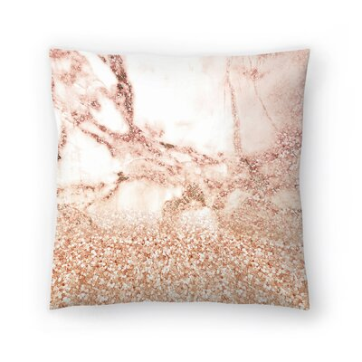Luxury Glitter and Marble Texture Throw Pillow Size: 18 x 18