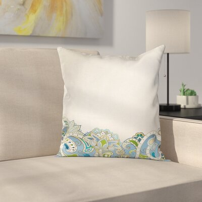 Waterproof Floral 16 Square Pillow Cover Size: 16 x 16