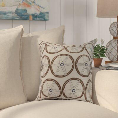 Crider Nautical Geo Lines Geometric Print Indoor/Outdoor Throw Pillow Color: Ivory, Size: 16 x 16