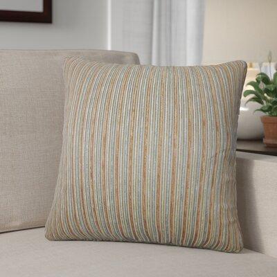 Diane Stripes Cotton Throw Pillow Color: Brown