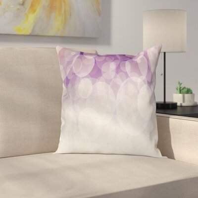Hazy Circles Digital Cushion Pillow Cover Size: 16 x 16