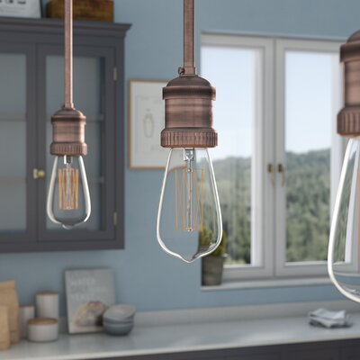 Vaughan 1-Light Pendant Stem Hung Finish: Antique Copper
