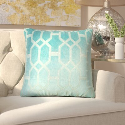 Kerra Geometric Throw Pillow Color: Turquoise