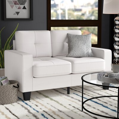 Tiff Modern Loveseat Finish: White