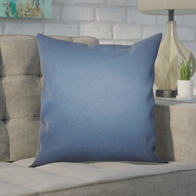 Portsmouth 100% Cotton Throw Pillow Color: Blue, Size: 18x18