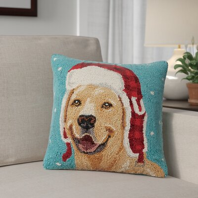 Holiday Dogs Wool Throw Pillow