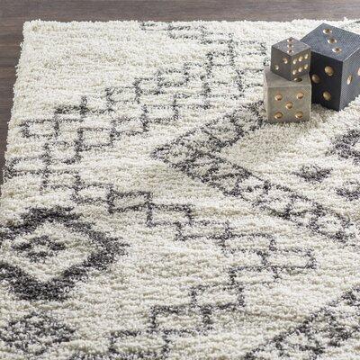 Amall Ivory Area Rug Rug Size: 710 x 910