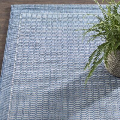 Adelmo Blue Indoor/Outdoor Area Rug Rug Size: Rectangle 86 x 13