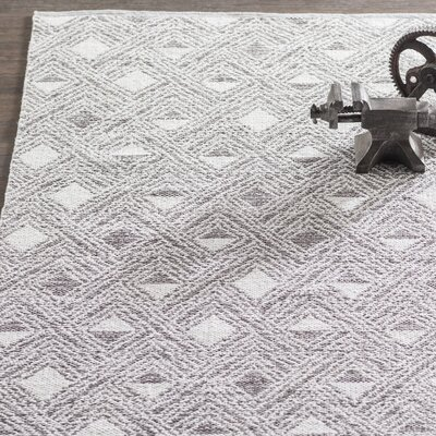 Aragam Hand-Woven Charcoal/Ivory Area Rug Rug Size: 8 x 10