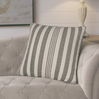 Gladiola Cotton Throw Pillow Color: Gray