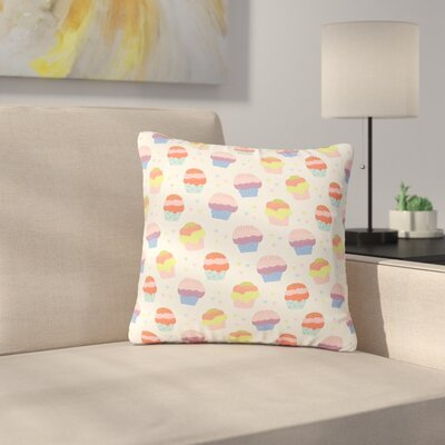 Cristina Bianco Cupcakes Food Outdoor Throw Pillow Size: 16 H x 16 W x 5 D