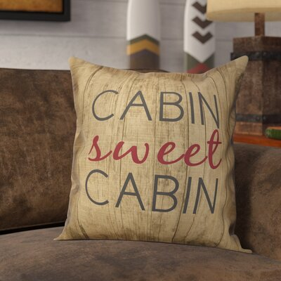 Rendon Rustic Cabin Sweet Cabin Throw Pillow