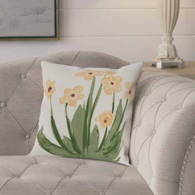 Laymon Throw Pillow Color: Yellow, Size: 18 x 18