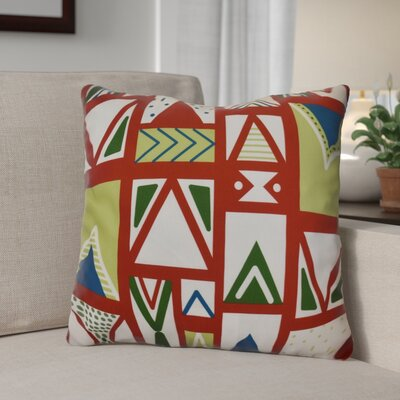 Decorative Geometric Throw Pillow Size: 18 H x 18 W, Color: Red