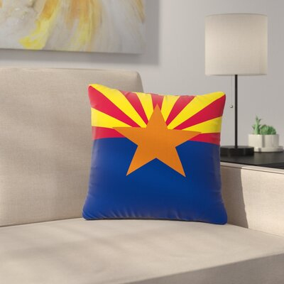 Bruce Stanfield Flag of Arizona Outdoor Throw Pillow Size: 18 H x 18 W x 5 D