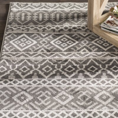 Adette Gray Area Rug Rug Size: 710 x 910