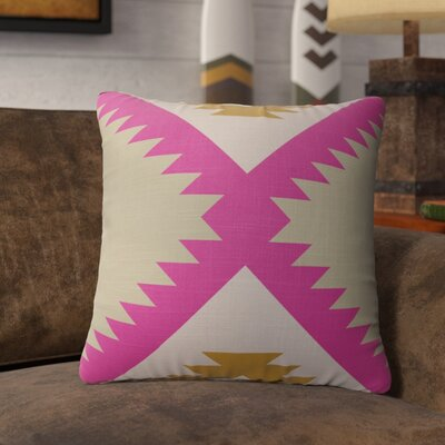 Levering Throw Pillow Size: 24 x 24, Color: Pink/Orange/Tan