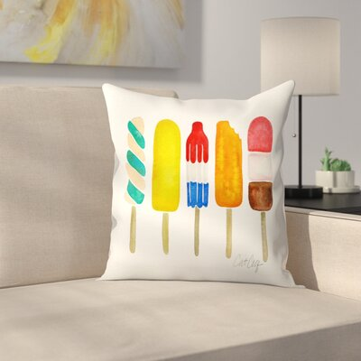Popsicles Throw Pillow Size: 18 x 18