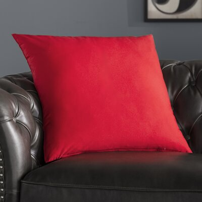 Alarick Cotton Throw Pillow Size: 23 H x 23 D x 7 D, Color: Red