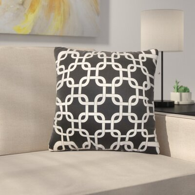 Sundberg Geometric Cotton Throw Pillow Color: Black