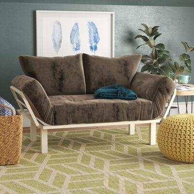 Everett Convertible Lounger Futon and Mattress Upholstery: Suede Gray