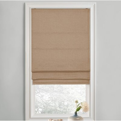Sellner Premium Blackout Cordless Roman Shades Color/Finish: Linen, Blind Size: 35W x 63L