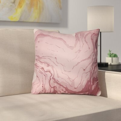 Bernadine Throw Pillow Size: 20 H x 20 W x 4 D, Color: Red