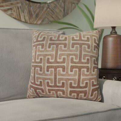 Mulvaney Cotton Throw Pillow Color: Taupe
