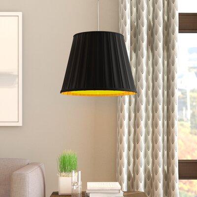 Ekstrom 2-Light Mini Pendant Shade Color: Black