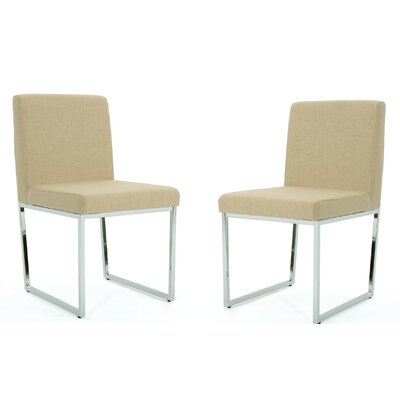 Saniveieri Upholstered Dining Chair Color: Dark Beige
