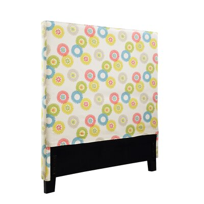 Felty Wheels N Motion Upholstered Panel Headboard Size: Twin