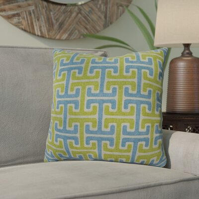 Mulvaney Cotton Throw Pillow Color: Pool