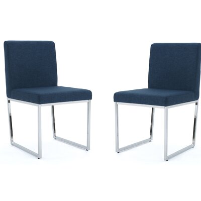 Saniveieri Upholstered Dining Chair Color: Navy Blue