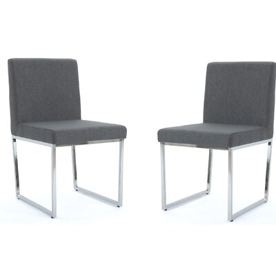 Saniveieri Upholstered Dining Chair Color: Charcoal