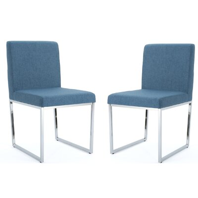 Saniveieri Upholstered Dining Chair Color: Blue