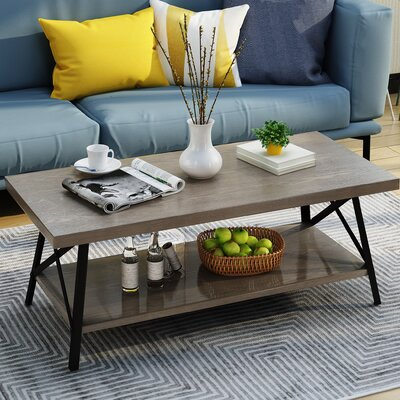 Gamble Coffee Table Color: Gray
