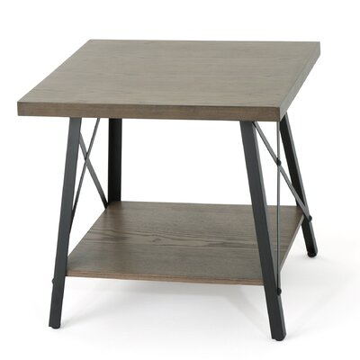 Gamble End Table Color: Gray