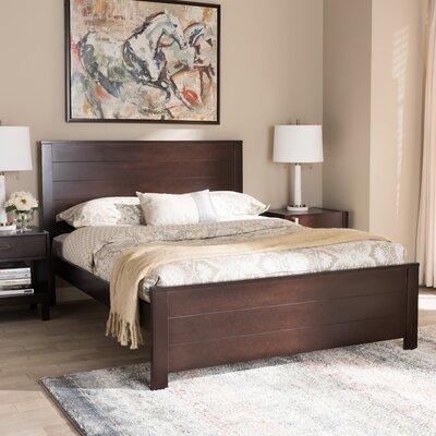 Ecklund Platform Bed Color: Dark Brown, Size: Full