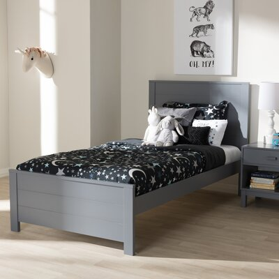 Ecklund Platform Bed Color: Gray, Size: Twin