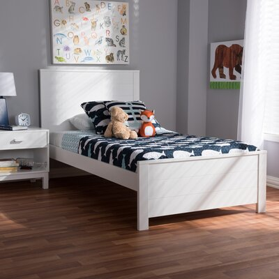 Ecklund Platform Bed Color: White, Size: Twin