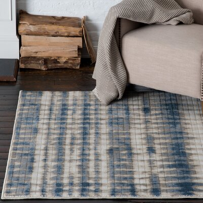 Malmberg Markab Blue/Beige Area Rug Rug Size: Rectangle 710 x 1010