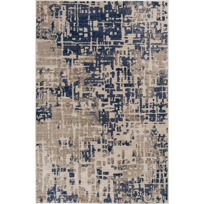 Greear Alair Blue/Gray Area Rug Rug Size: Rectangle 53 x 77